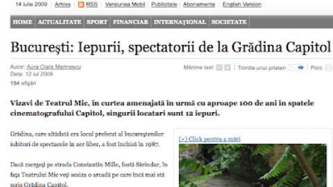 Iepurii @ Gradina Capitol
