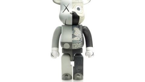 KAWS OrignalFake Companion Be@rbrick (Grey Version)