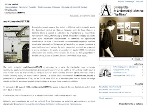 Teatrul de vara CAPITOL @ U.A.U.I.M. / Istorie Teorie Restaurare