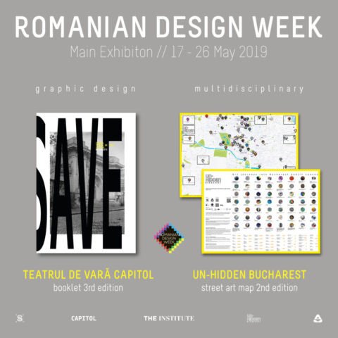 The Un-hidden Bucharest map and CAPITOL booklet @ Romanian Design Week 2019