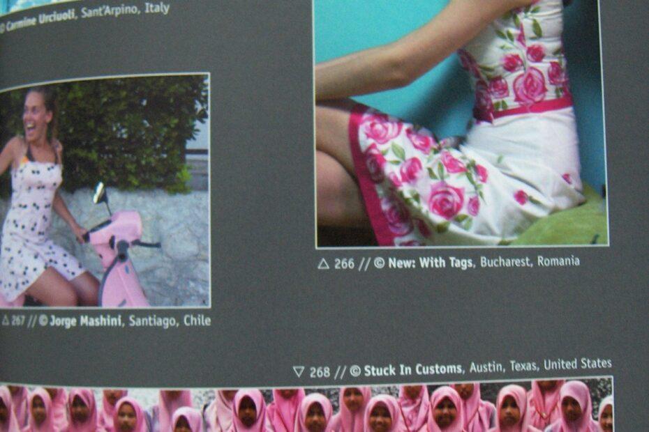 nwt pink attitude page Liz Editions