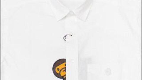 A BATHING APE : MILO S/S Shirt WHITE