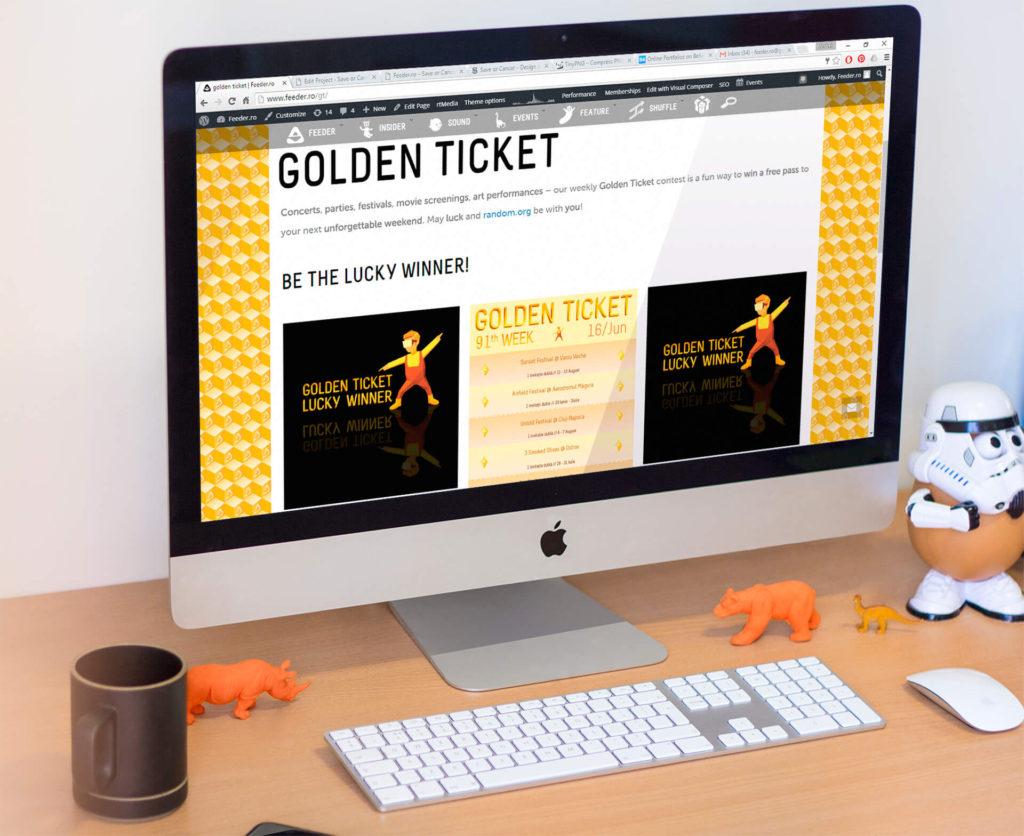 feeder.ro Golden Ticket events