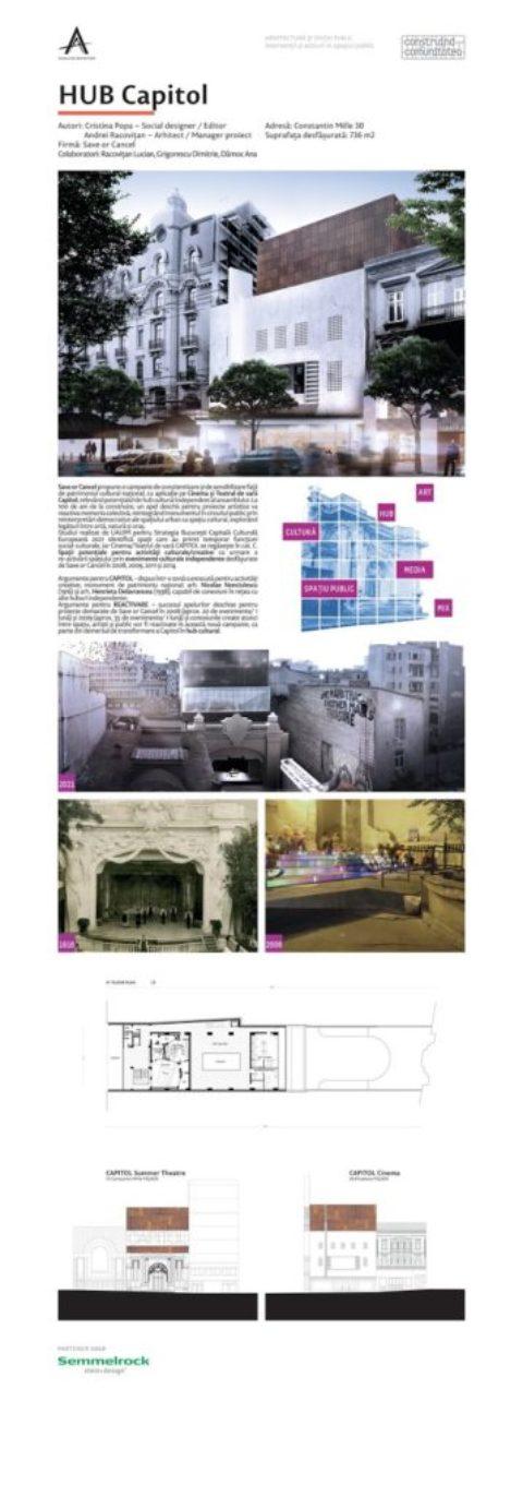 Hub CAPITOL la Anuala de Arhitectură București 2016