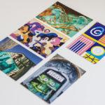 Un-hidden Bucharest print post card