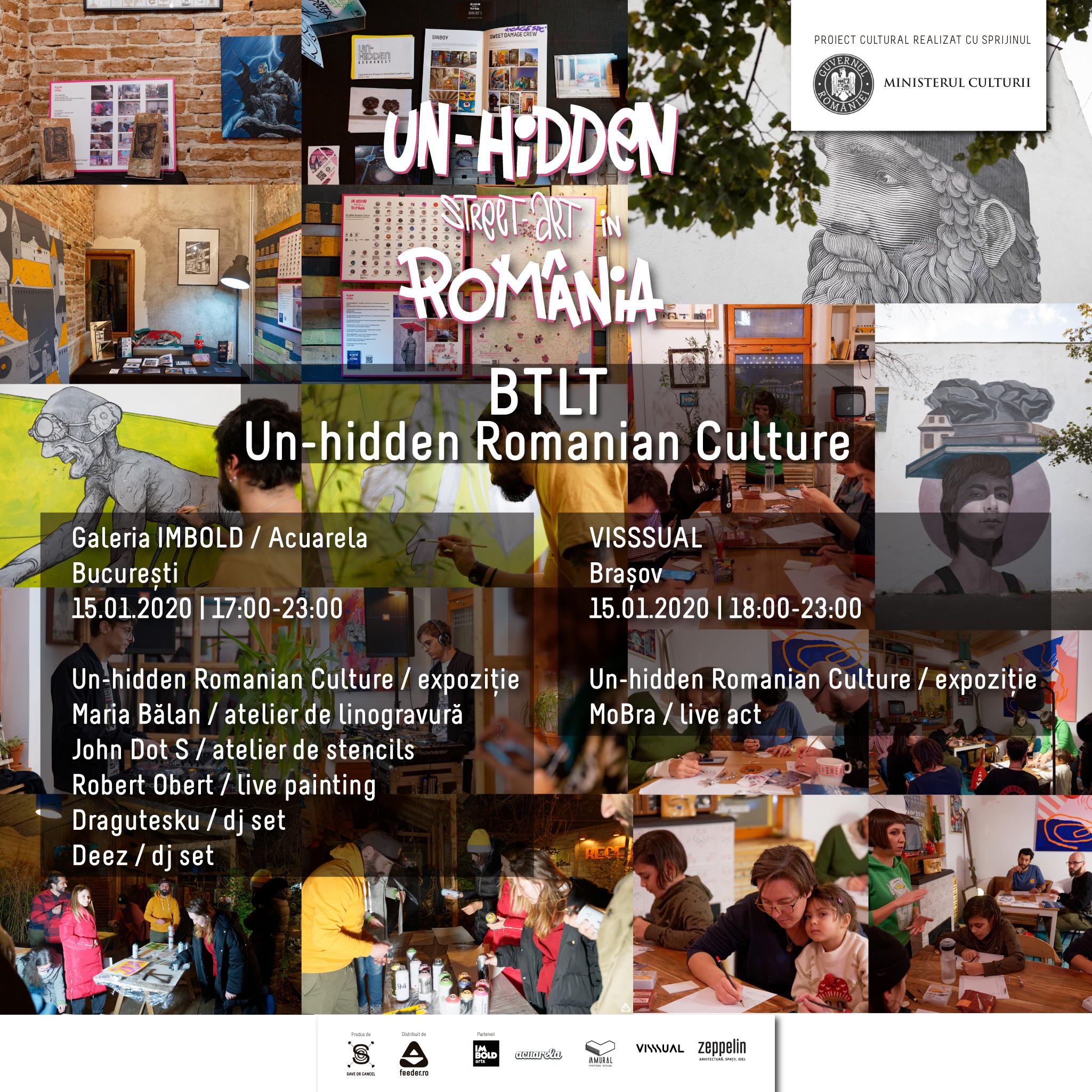 Vezi imagini de la evenimenteleUn-hidden Romanian Culture, organizate cu ocazia Zilei Culturii Naționale