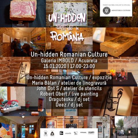 Descoperă expoziția Un-hidden Romanian Culture cu ocazia Zilei Culturii Naționale @ Galeria Imbold, București