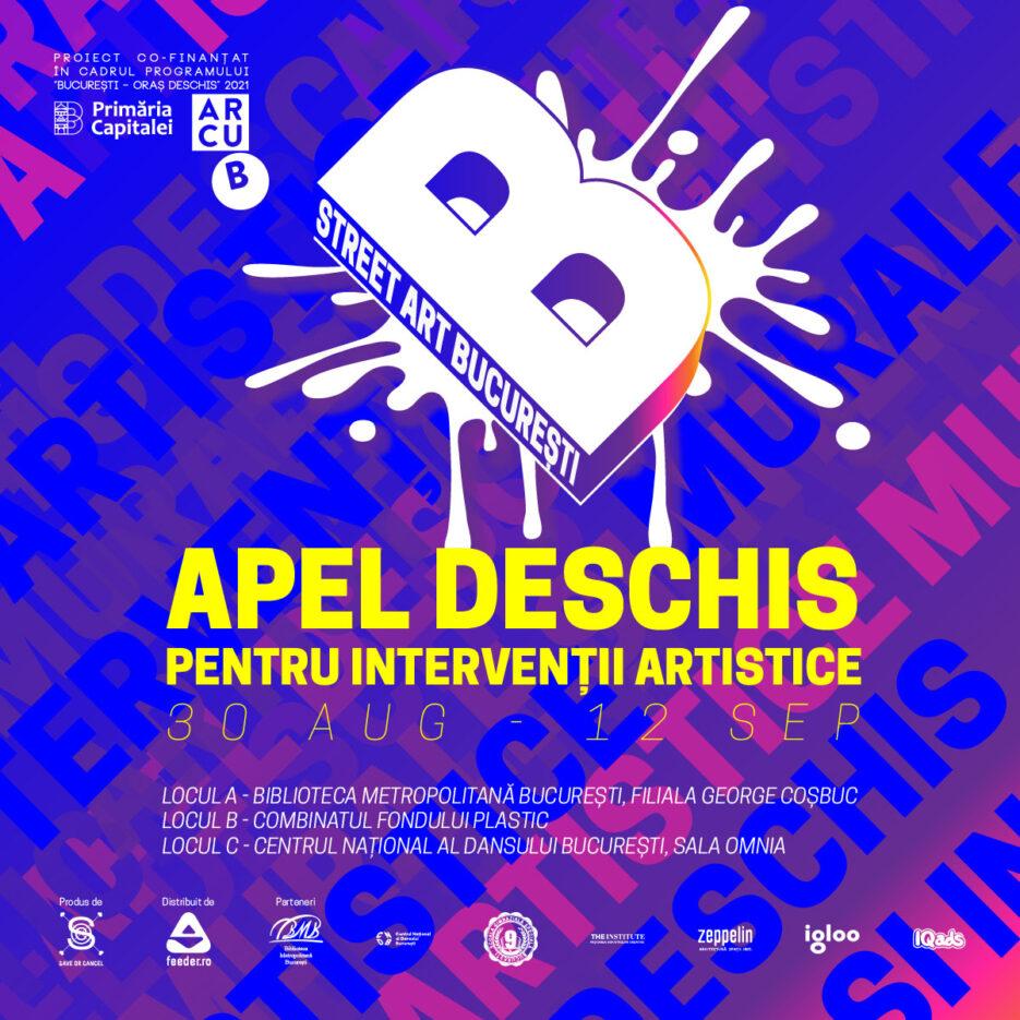 Apel deschis pentru intervenții artistice Street Art București