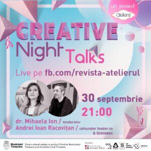 Creative Night Talks cu Andrei Racovițan (save or cancel)