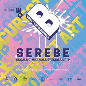 Street Art București o invită pe SEREBE la Școala Gimnazială Specială Nr. 9